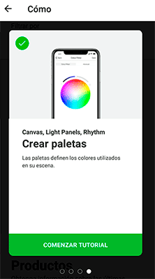 App Nanoleaf crea paletas