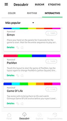 Todos los juegos de Nanoleaf Canvas