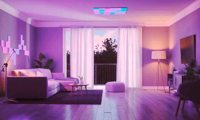 Sala de estar Nanoleaf Canvas