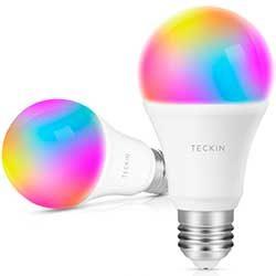 pack 2 bombillas inteligentes teckin