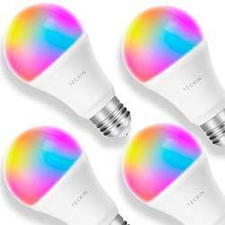 pack 4 bombillas inteligentes teckin